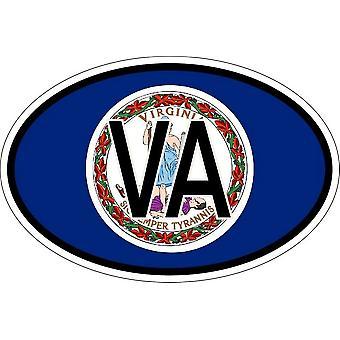 ملصقا البيضاوي علم البيضاوي رمز البلد الولايات المتحدة الأمريكية virginie