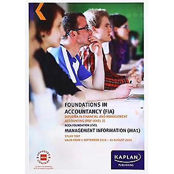 MANAGEMENT INFORMATION - STUDY TEXT by KAPLAN PUBLISHING - 9781787403