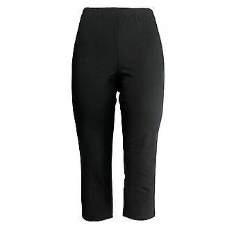 Femmes avec contrôle Femmes-apos;s Petit Pantalon Cropped Pull-On Black A305909