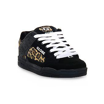 Globe tilt black cheeta sneakers fashion