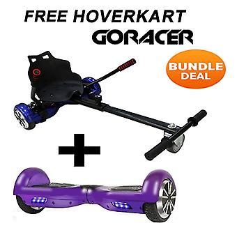 "GoRacer Hoverkart mit 6.5""Classic Purple Bluetooth Hoverboard Segway"