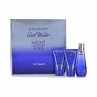 Presentförpackning för Davidoff Cool vatten natt dyk Woman Eau de Toilette 50ml