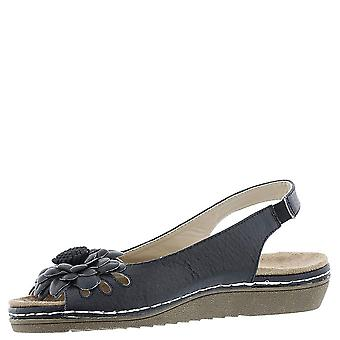 Beacon Women's Shoes Sugar Leather Open Toe Casual Slingback Sandálias