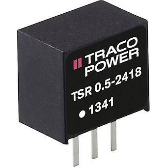 TracoPower TSR 0,5-2433 DC/DC omformer (utskrift) 24 V DC 3,3 V DC 500 mA Nr. av utganger: 1 x