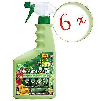 Sparset: 6 x COMPO Duaxo® Universal Mushroom-Free AF, 750 ml