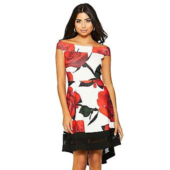 RE TECH UK - Women's Floral Bardot Dress