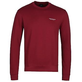 Armani Exchange burgunder Crew hals genser