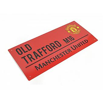 Manchester United FC Official Coloured Metal Street Sign