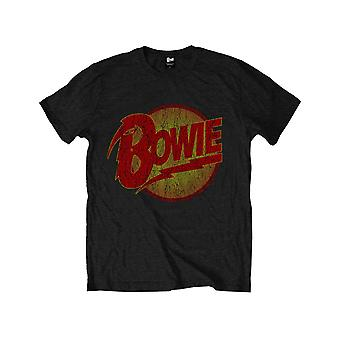David Bowie Kids T Shirt Vintage Diamond Hundar Logo Officiella svarta åldrar 1-12 år