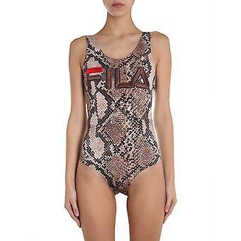 Fila 684623a550 Kvinder's Leopard Bomuld Bodysuit