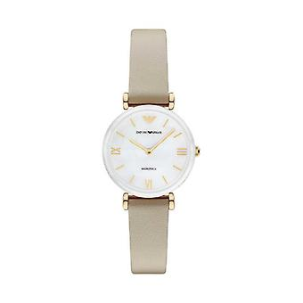 Emporio Armani AR11041 Beige Leather Ladies Watch