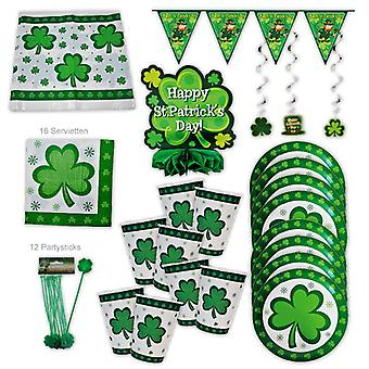 St Patrick's Day Ireland Party Set XL 50-stuk voor 8 gasten Patricksparty Deco Party Package