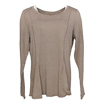 Anybody Women's Top Cozy Knit Long Sleeve Beige A372087