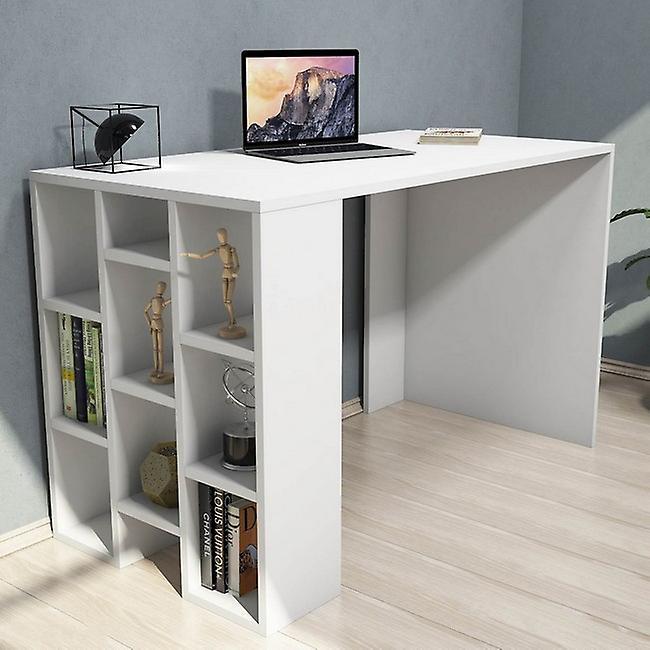 Bureau Incis blanc en puce melaminique, PVC 120x60x75cm