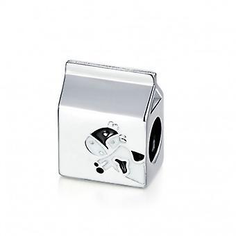 Sterling Silver Charm Milk Carton - 6618