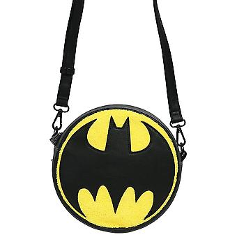 Loungefly Dc Batman Chenille Canteen Crossbody Bag