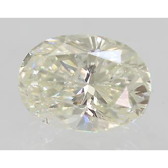 Certified 0.57 Carat H Color SI2 Oval Natural Diamond For Ring 5.72x4.15mm