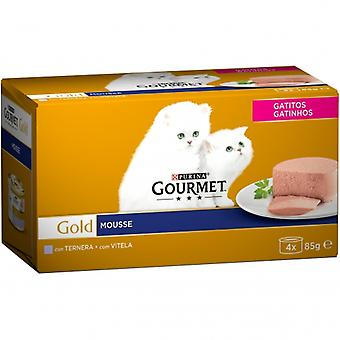 Gourmet Gold Mousse Kitten Multipack Ternera (Cats , Cat Food , Wet Food)