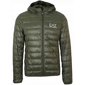 EA7 Green Down Filled Lightweight Jacket