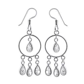 Sølv Fancy dinglende kostume ørering