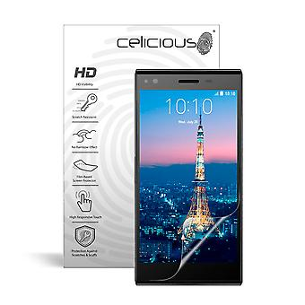 Celicious Vivid Invisible Glossy HD Screen Protector Film Compatible with ZTE Blade Vec 4G [Pack of 2]