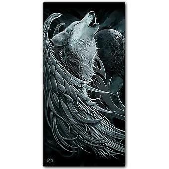 Spiral direct - wolf spirit - bath towel