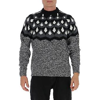 Prada Umb1471xswf0n5a Men's Grau Wolle Pullover