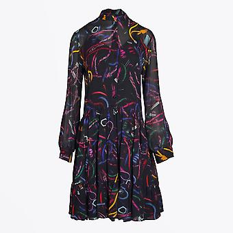 PS Paul Smith  - 'Climbing Rope' Print Dress - Black/Multi