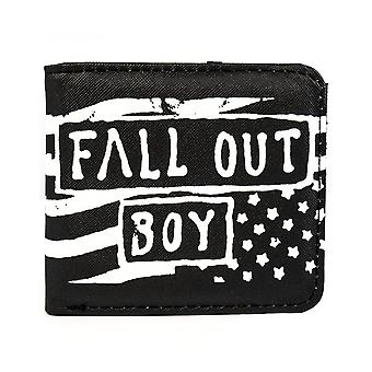 Fall Out Boy Wallet Rock Sax Music Rock Band Merchandise US Flag Pouch Adults