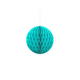 10cm Turquoise Blue Tissue Paper Honeycomb Ball Wedding Party Decoration