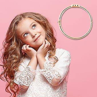 "TJC Heart Bangle voor vrouwen Geel Verguld Sterling Silver Size 6.2"""