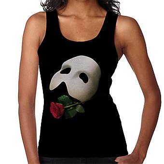 The Phantom Of The Opera Mask & Rose Women's Vest