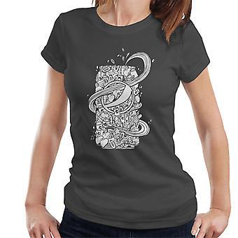 Pepsi weiß Doodle können Damen T-Shirt