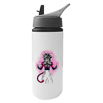 Pink Gogeta Super Saiyan Four Dragon Ball Z GT Aluminium Water Bottle With Straw