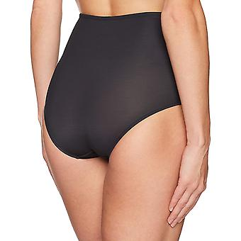 Arabella Women's Microfiber and Lace Waist Smoothing Shapewear Brief, Black, ...