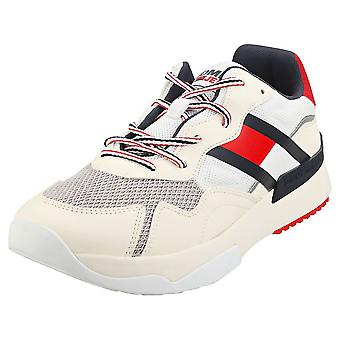 Tommy Jeans Sustainable Runner Mens Fashion Trainers in Ivory