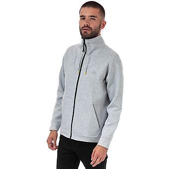 Sweat-shirt zip en gris pour les hommes;apos;s Lacoste Motion Ergonomo Coton Blend