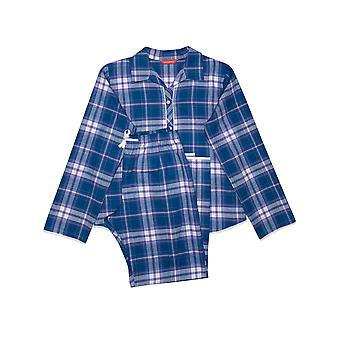 Minijammies Eliza 5646 Girl's Blue Mix Check Pyjama Set