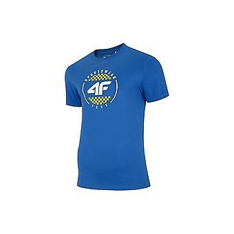 4F TSM022 H4L20TSM022KOBALT universeel het hele jaar mannen t-shirt