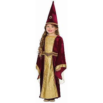 Burgfräulein Cecilia Kinder Märchen Kostüm Prinzessin Konigin 3-teilig