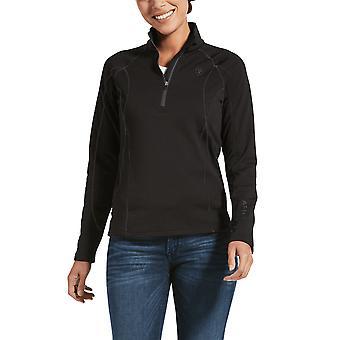 Ariat Conquest 2.0 Femmes 1/2 Zip Sweatshirt - Noir