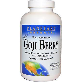 Planetary Herbals, Full Spectrum Goji Berry, 700 mg, 180 Capsules