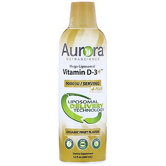 Aurora Nutrascience, Vitamina Mega-Liposomal D3, Sapore di frutta biologica, 9.000 IU,
