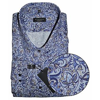 Eterna Mode Eterna Paisley Pattern Formal Shirt