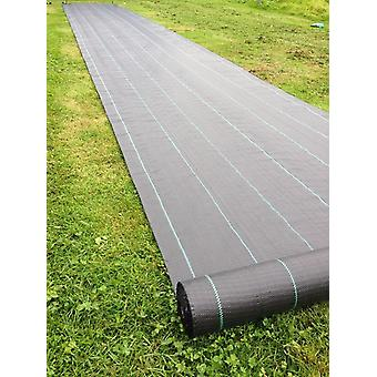 Heavy Duty Lined Weed Control Fabric - Landscaping Ground Cover Membrane