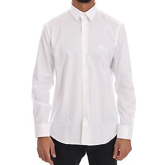 Cavalli White Striped Slim Fit Shirt TSH1497-5