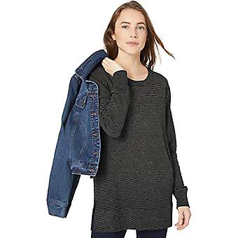 Marchio - Daily Ritual Women's Terry Cotton and Modal Side-Vent Tunic, B...