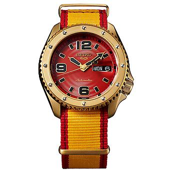 Seiko 5 Sports Street Fighter Zangief Red Dial Red Nylon Strap Automatic SRPF24K1 Mens Watch