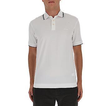 Z Zegna Vv360zz661n00 Männer's weiße Baumwolle Polo Shirt
