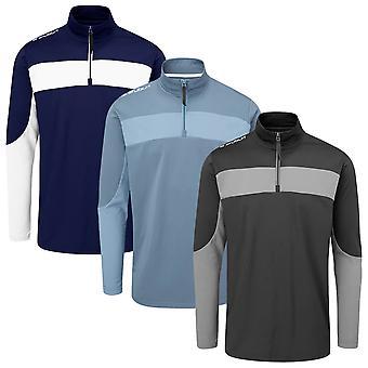 Stuburt Golf Mens Enhance Mid-Layer 1/2 Zip Stretch Brushed Golf Sweater
